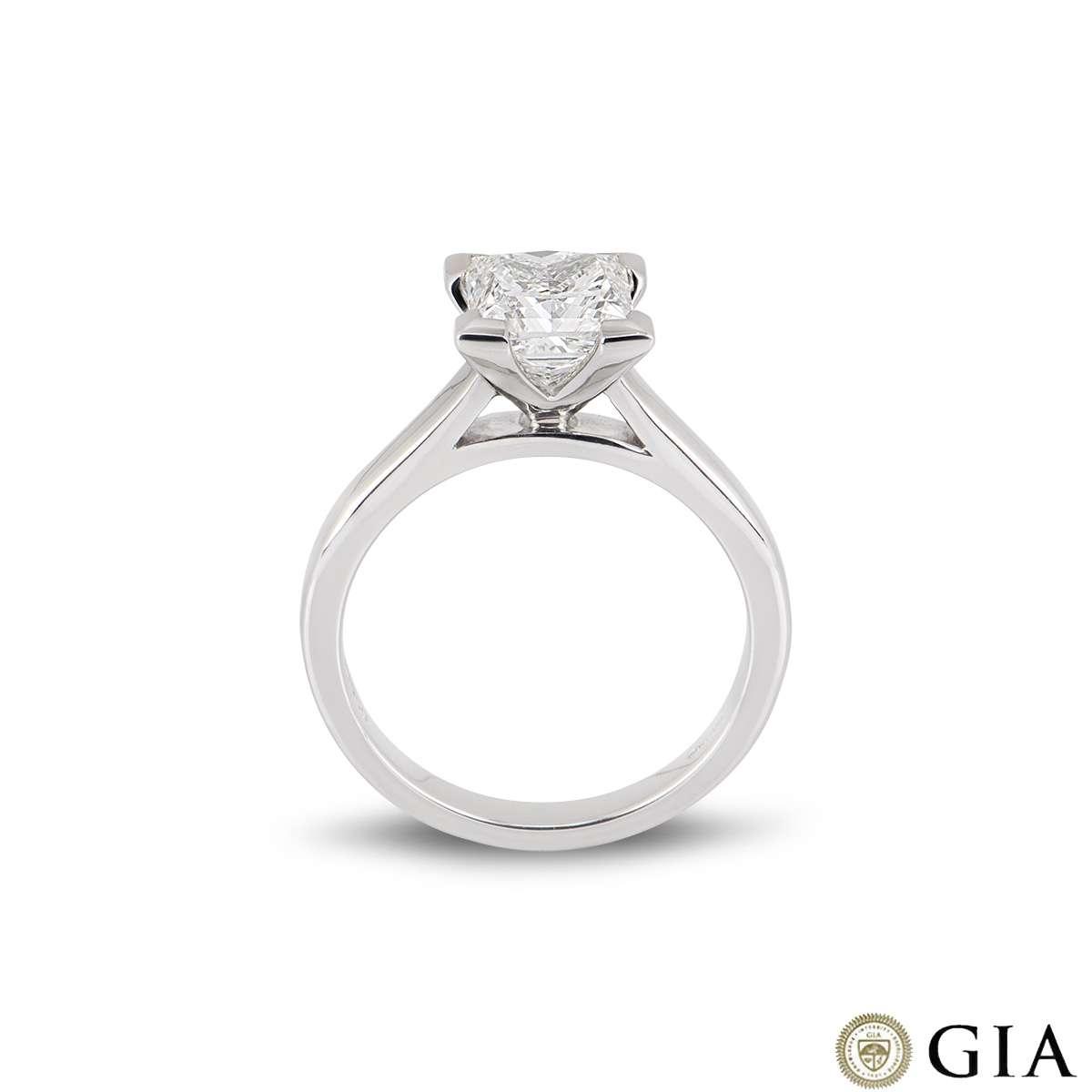 White Gold Diamond Princess Cut Diamond Ring 2.01ct G/VS1